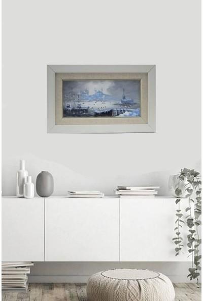 Panoramik Istanbul Temalı 27 x 16.8 cm Yağlı Boya Tablo