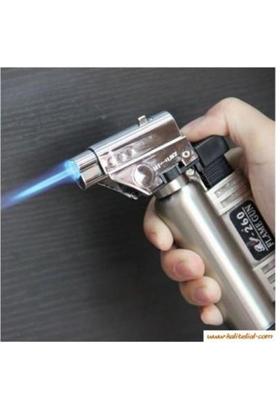 Torch Doldurulabilir Profesyonel Pürmüz Çakmak BS-261 Yedek Gaz Hediyeli