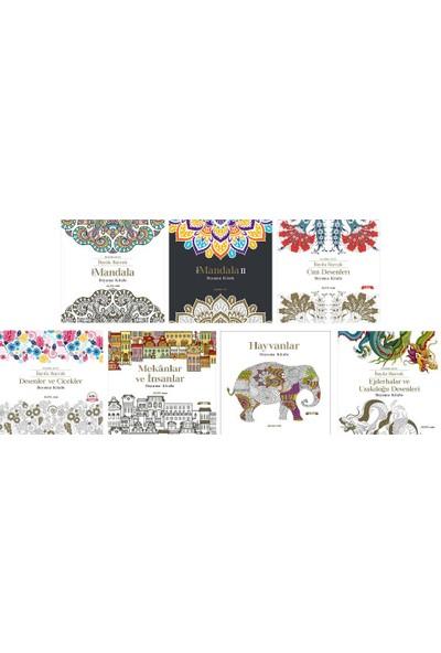 Yetişkinler İçin Boyama Kitapları Mandala 7 Kitap Set Desenler Süper Mandala