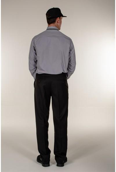 Mert Giyim Gri Güvenlik Gömlek Uzun Kollu