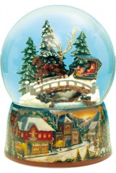 Music Box World Kar Küresi - Faytonlu Kızak Yolu - Müzikli