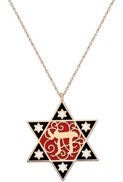 Bulvardi Mineli Gümüş Madalyon Kolye - Siyah - Standart - AXEL0042-2365