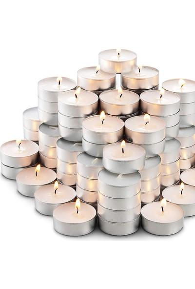 The Buy Box Tealight Mum Beyaz 50'li