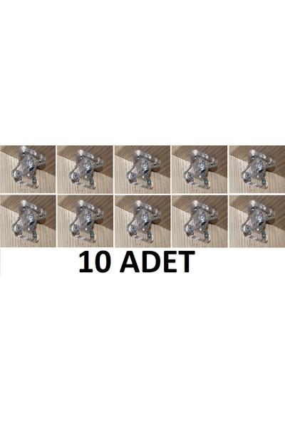 Metali Dereceli Şeffaf Çektirme (Mobilya Birleştirme Elemanı) 10'lu