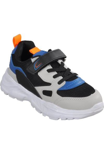 Cool 20 - S06 Siyah - Saks - Turuncu Çocuk Spor Ayakkabı