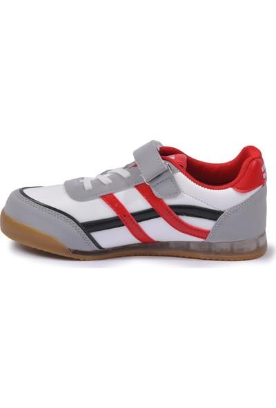 Cosby 3552 Beyaz - Kırmızı - Siyah Çocuk Spor Ayakkabı