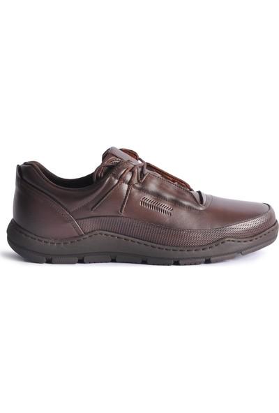 James Franco 5556 Kahve Hakiki Deri Erkek Casual Ayakkabı