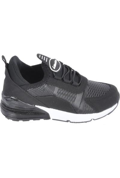 Lafonten 651 Siyah - Beyaz Çocuk Spor Ayakkabı