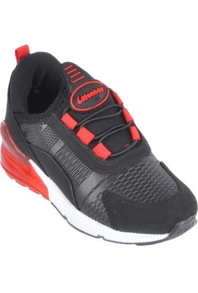 Lafonten 651 Siyah - Kırmızı Çocuk Spor Ayakkabı