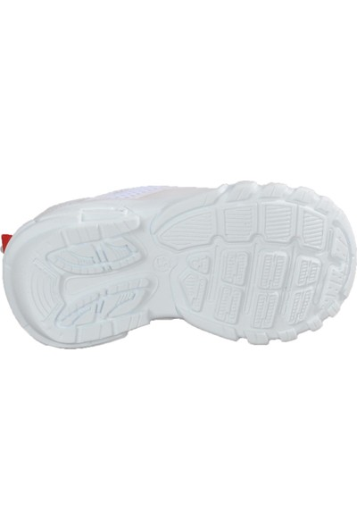 Lafonten 652 Beyaz - Kırmızı Çocuk Spor Ayakkabı
