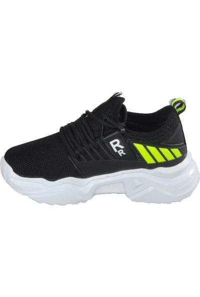 Lafonten 670 Siyah - Sarı Çocuk Spor Ayakkabı