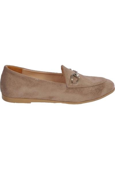 Park Fancy 155536 Vizon Süet Kadın Günlük Ayakkabı