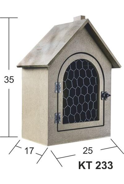 Baykon Ahşap Mdf Telli Kuş Evi 35 x 25 cm