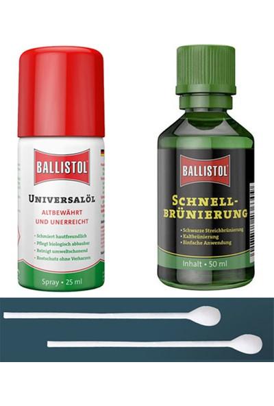 Ballistol Klever Guıck Namlu Boyası, Bakım Yağı ve Çubuk Seti
