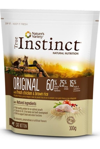 Instinct True Instinct Original Kitten Tavuklu Yavru Kedi Maması 300 gr
