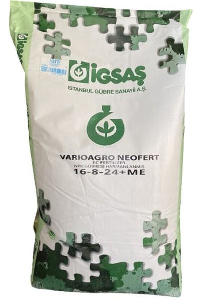 İgsaş 16 8 24 İz Elementli Damla Sulama Yaprak Azot Fosfor Potasyum NPK Toz Gübresi 25 Kg
