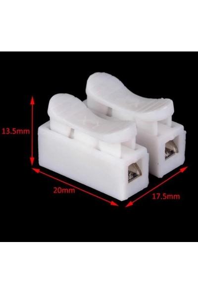 365gunserisonu Mandallı Vidasız Klemens Basmalı Tip 2 Li 2 Pin 100'LÜ Paket