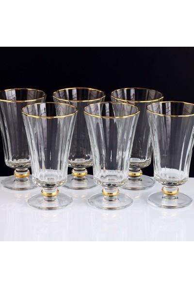 Paşabahçe Kahve Yanı Su Bardak Takımı Diamond Altın - 6 Kişilik