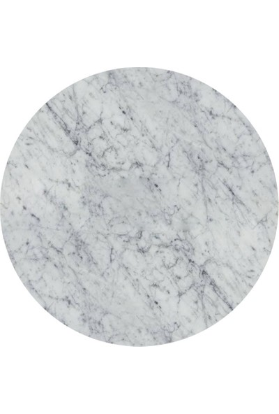 Maksa Mimarlık Marilena Carrara White Mermer Parlak Paslanmaz Titanyum Gold Yan Sehpa