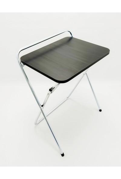 Hastunç Galvanizli Katlanır Laptop/dizüstü Çalışma Masası-Siyah
