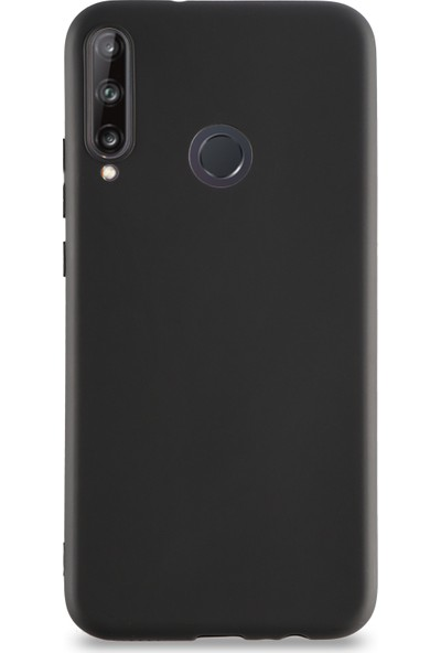 Kzy Huawei P40 Lite E Kılıf Kamera Korumalı Premier Silikon Kapak Siyah