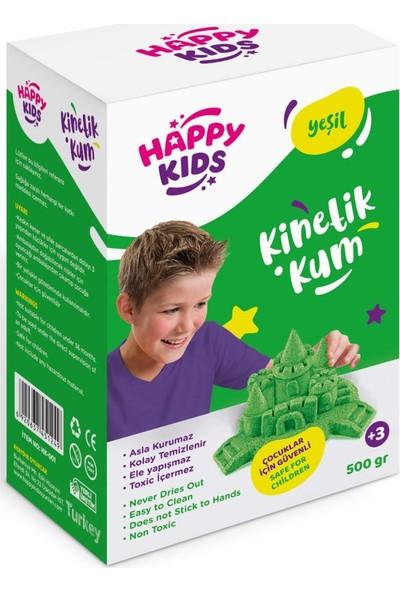Happy Kids 500GR Yeşil Kinetik Kum Kutulu Hareketli Oyun Kum