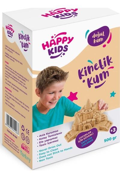 Happy Kids 500GR Sarı Doğal Kinetik Kum Kutulu Hareketli Oyun Kumu