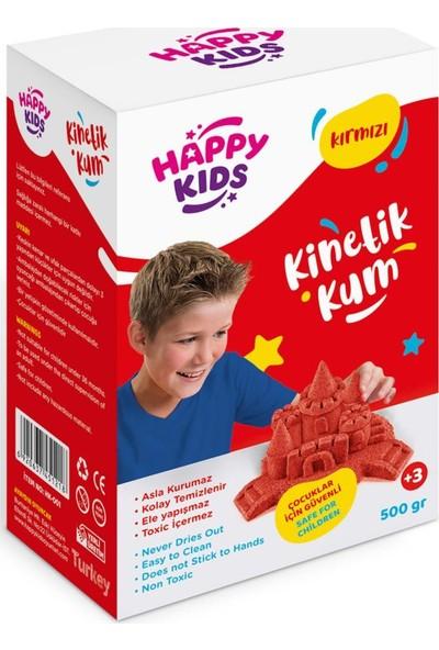 Happy Kids 500GR Kırmızı Kinetik Kum (5ADET) Kutulu Hareketli Oyun Ku