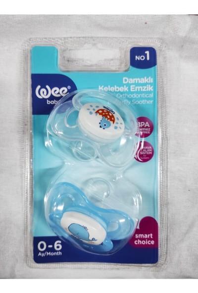 Wee Baby Damaklı Kelebek Emzik Erkek Bebek No 1