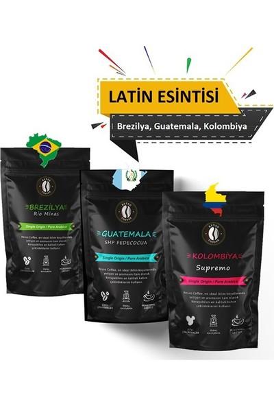 Resso Coffee Latin Esintisi 3 x 100 gr Çekirdek (Öğütülmemiş) 3 Paket