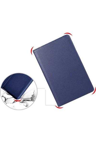 """Tekno Grup Samsung Galaxy Tab 3 Lite 7.0"""" (T110/T113/T116) Kılıf Dönebilen Standlı Kapaklı Kılıf + Cam Ekran Koruyucu Lacivert"""