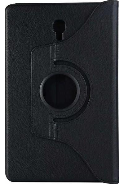 Tekno Grup Samsung Galaxy Tab A (T590) Kılıf Dönebilen Standlı Kapaklı Kılıf + Cam Ekran Koruyucu Siyah
