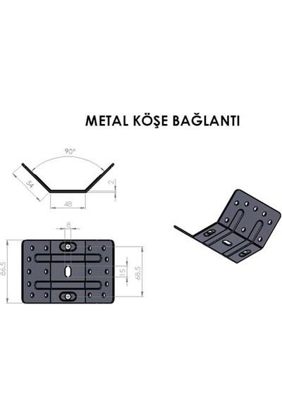 Hobbi Mutfak Masa Metal Ayak Köşe Sacı-Ayak Bağlantı Sacı - 4 Adet