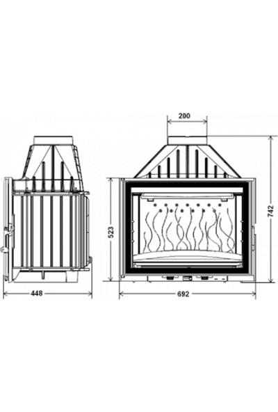 İnvicta Invıcta, 700 Grande Angle, Ithal Şömine Haznesi Klapeli 9270-73