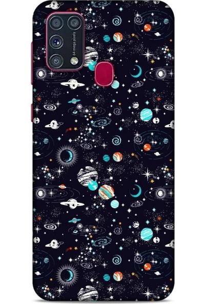 Lopard Spacex (20) Tema Koruyucu Kılıf Samsung Galaxy M31 Kılıf