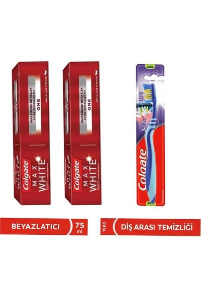 Colgate Max White One Beyazlatıcı Diş Macunu 75 ml + Diş Fırçası 3'lü Set