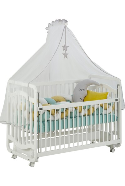 G&G Bianco Sweet Dreams Anne Yanı Beşik Örgü Koruma Uyku Setiyle