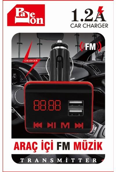 Paleon Araç Kiti Bluetooth Fm Müzik Modülatör