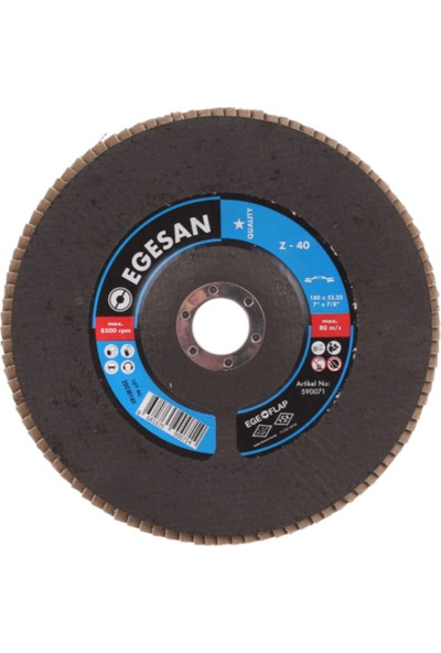 Egeli 180 Flap Disk Zr 40