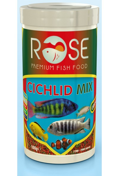 Rose Cichlid Mix Granulat 250 ml Akvaryum Balık Yemi
