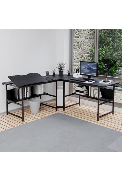 Yasmak Siyah L Bilgisayar ve Çizim Masası