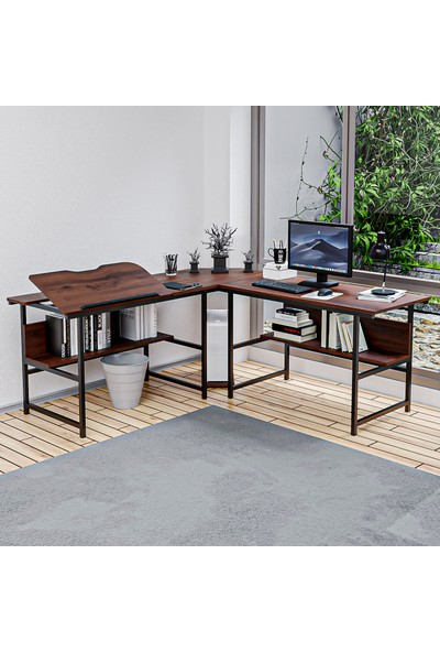 Yasmak Ceviz L Bilgisayar ve Çizim Masası
