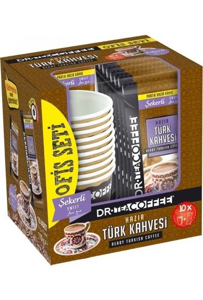 Dr Coffe Hazır Türk Kahvesi Şekerli Ofis Seti (10'lu) (10X11 110 Gr)