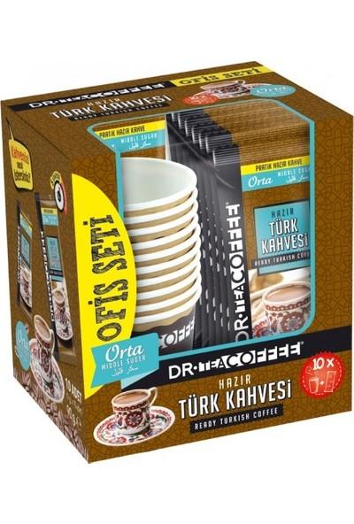 Dr Coffe Hazır Türk Kahvesi Orta Şekerli Ofis Seti (10'lu) (10X9 90GR)