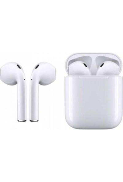 TWS I12 Şarj Üniteli Bluetooth 5.0 Beyaz Kulaklık - I12