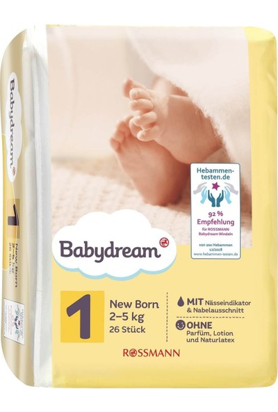 Babydream Bebek Bezi, 1 Beden, 26'lı