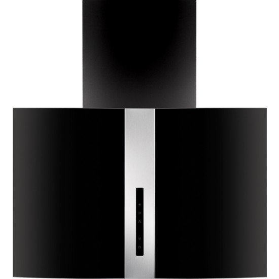 Simfer 8743 70cm Bombeli Siyah Cam Davlumbaz