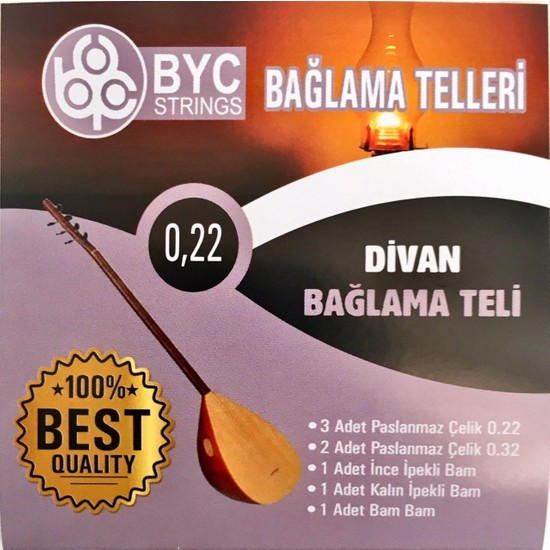7nota BYC22 022 Divan Saz Teli Seti -Bam Bam Teli Vardır