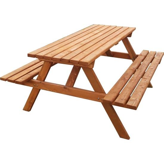 Alaçam Piknik Masası 6 Kişilik Kahverengi