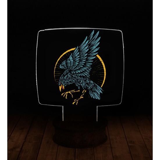 eJOYA Modern Desenli 3 Boyutlu 3D Led Gece Lambası 90271